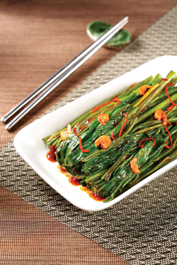 Stir-fried Morning Glory with Belachan